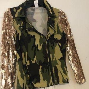 Weismann Sequin Army Jacket